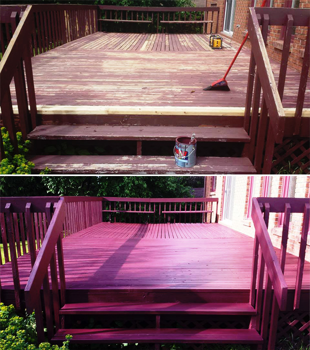 before and after deck paint in Ottawa