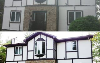 before and after stucco paint luskville
