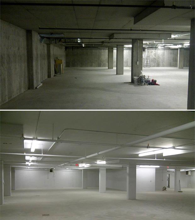 underground parking painting in Ottawa