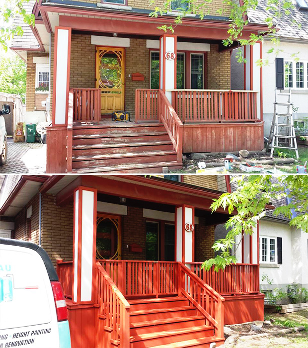 before and after exterior deck in Ottawa