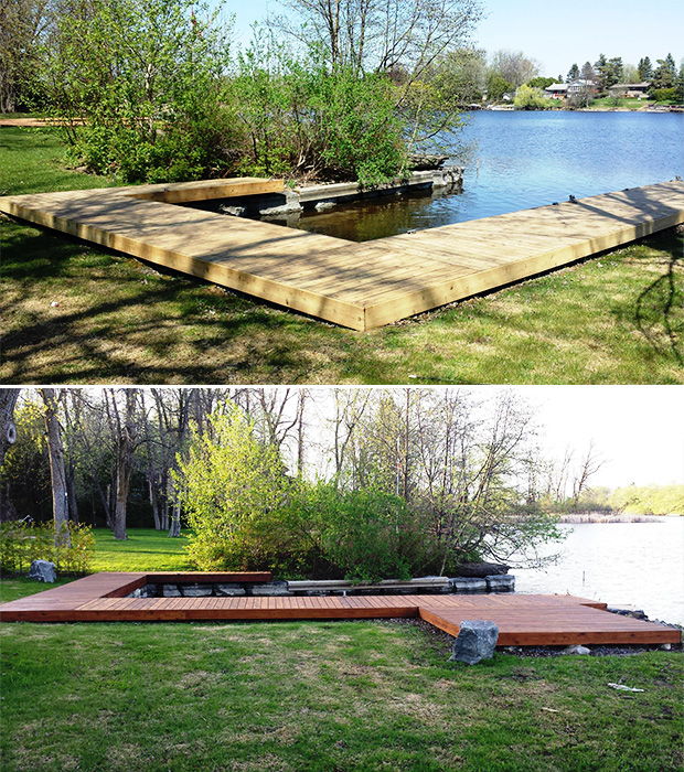 sanding and staining boat deck Ottawa