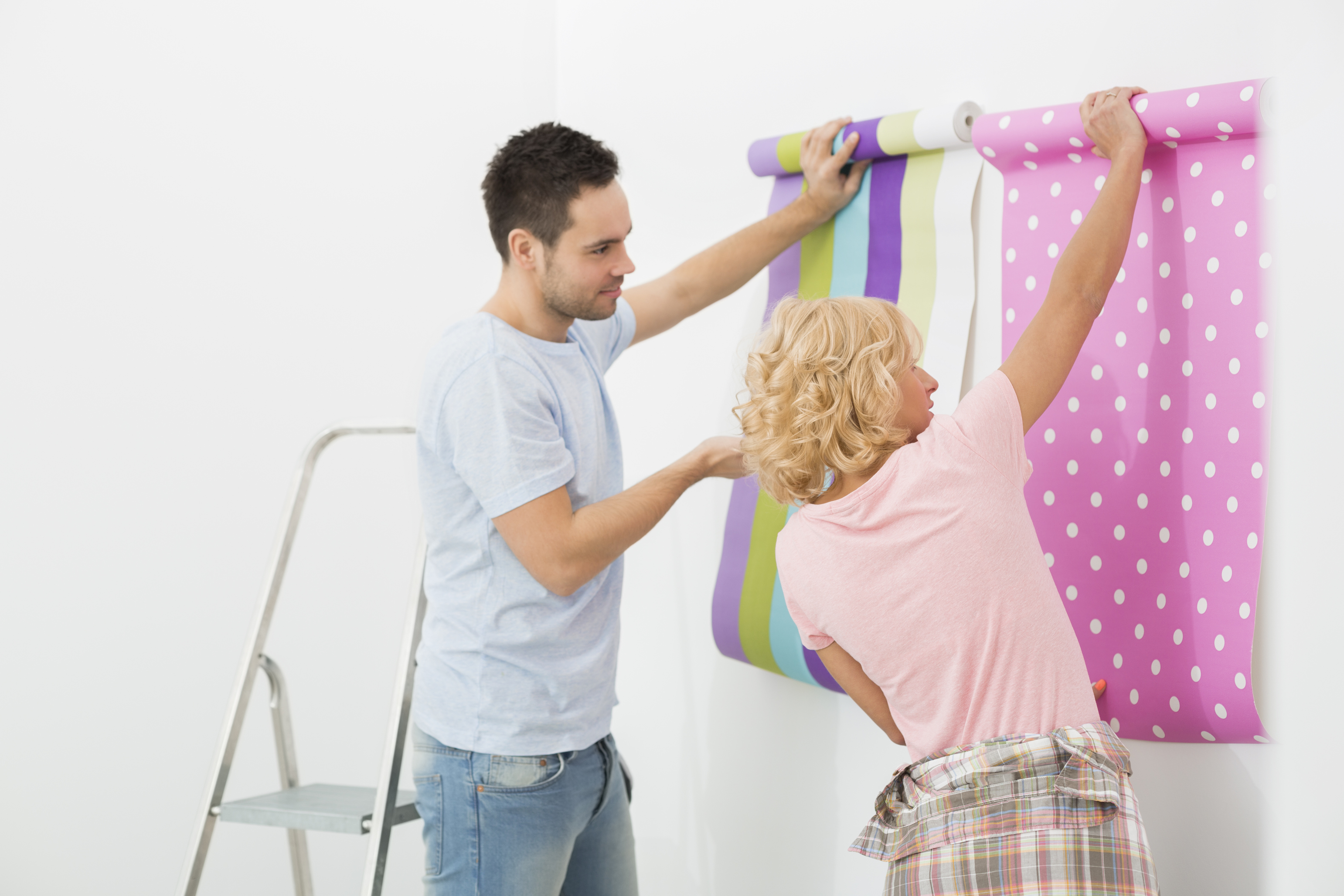 painting or wallpapering